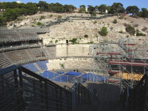 """Cagliari, Anfiteatro romano oppresso dalla """"legnaia"""""""
