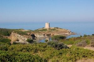 Domus de Maria, Torre costiera di Piscinnì
