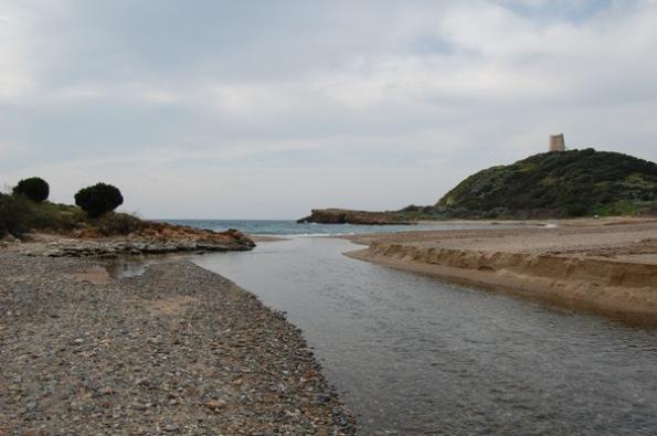 Domus de Maria, Chia, foce del Rio Chia e Torre costiera