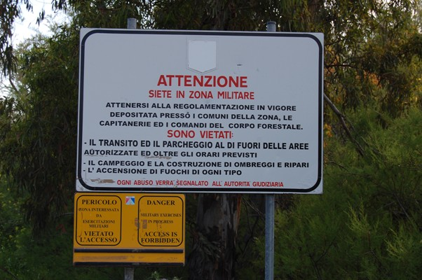 Quirra, cartello