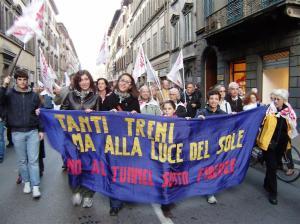Firenze, manifestazione contro tunnel Alta Velocità (2009)