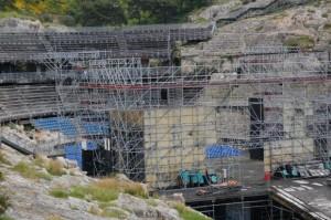 """Cagliari, Anfiteatro romano sotto la """"legnaia"""""""