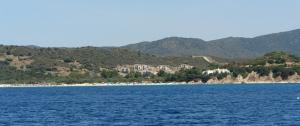 Teulada, Tuerredda, cantiere edilizio S.I.T.A.S. s.p.a. dal mare