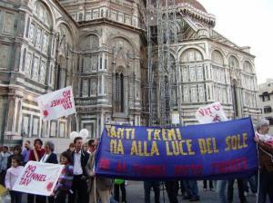 Firenze, manifestazione contro alta velocità in sotterranea (2010)