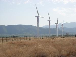 Assemini, Macchiareddu, centrale eolica
