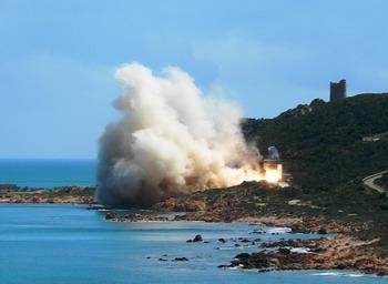 Quirra, lancio missile (da www.nsd.it)