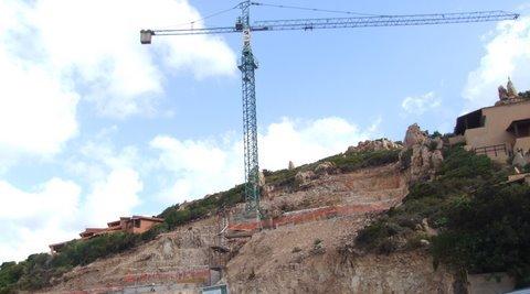 Costa Paradiso, cantiere edilizio