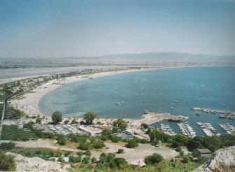 Cagliari, Poetto e Marina Piccola dalla Sella del Diavolo