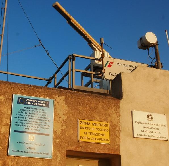 Cagliari, S. Elia, Torre dei Segnali, radar VTS Guardia costiera