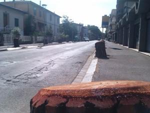Empoli, Via Masini dopo il taglio degli alberi