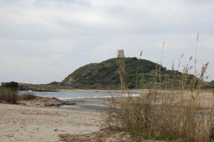 Domus de Maria, Torre di Chia e foce del Rio di Chia