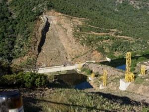 Sarroch-Villa S. Pietro, Monte Nieddu, il cantiere della diga