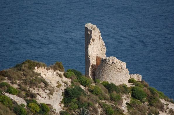 Cagliari, Sella del Diavolo, ruderi della Torre costiera del Poetto