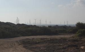 Portoscuso, centrale eolica Enel Green Power in costruzione