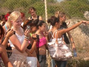 Cagliari, Sella del Diavolo, studenti tedeschi e cagliaritani in escursione