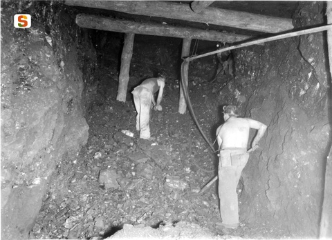 Carbonia, miniera di Serbariu, anni '50