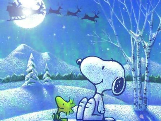 Snoopy, Woodstock, Babbo Natale e le renne