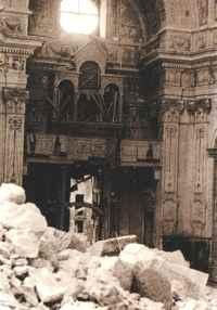 Cagliari, Chiesa di S. Anna bombardata, 1943