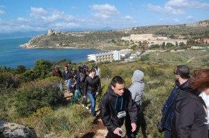 Cagliari, Sella del Diavolo, XIV Settimana della Cultura, un gruppo di escursionisti