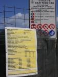 "San Teodoro, Cala Girgolu, cartello ""iniziolavori"""