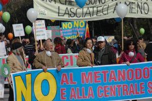 Sulmona, manifestazione contro il gasdotto
