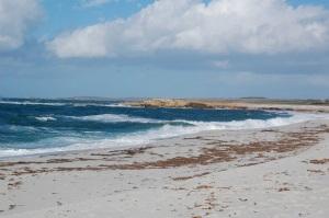 Cabras, Is Aruttas, spiaggia
