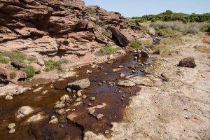 Portoscuso, Guroneddu-Capo Altano, corso d'acqua ancora alterato (28 giugno 2012)