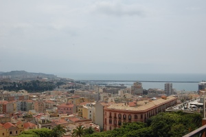 Cagliari, veduta da Castello in direzione di S. Elia