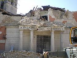 L'Aquila, Prefettura dopo il sisma del 6 aprile 2009