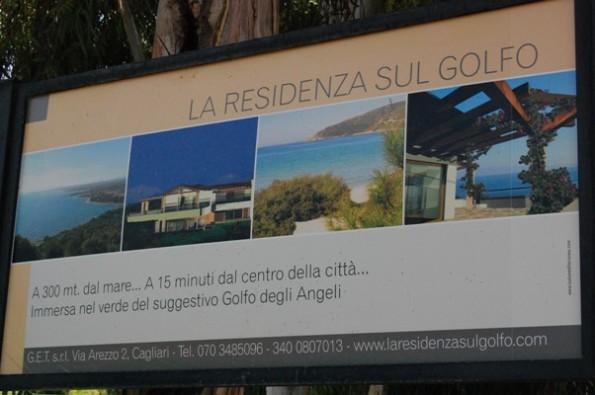 Quartu S. Elena, Terra Mala, lottizzazione San Luce, cartello pubblicitario