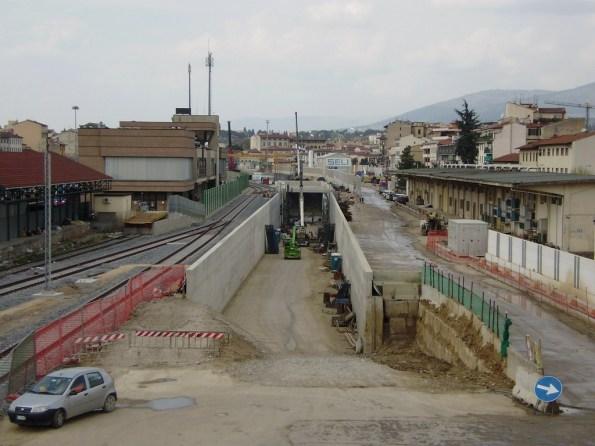 Firenze, Campo di Marte, ingresso del tunnel dell'alta velocità ferroviaria