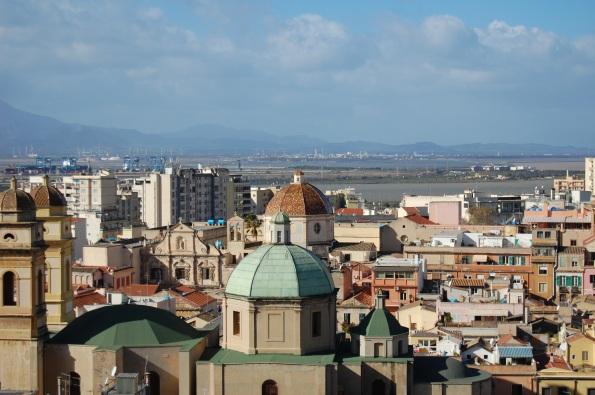 Cagliari, il quartiere storico di Stampace visto dal Bastione di S. Croce