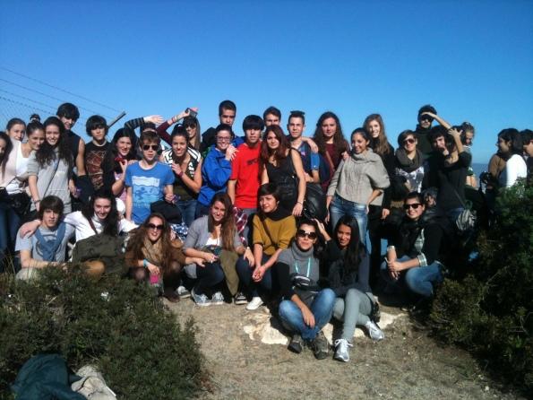 """la IV^ dell'indirizzo linguistico del Liceo """"Eleonora d'Arborea"""" (Cagliari) sulla Sella del Diavolo"""
