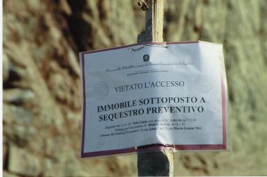 Maracalagonis, Baccu Mandara, cartello sequestro preventivo