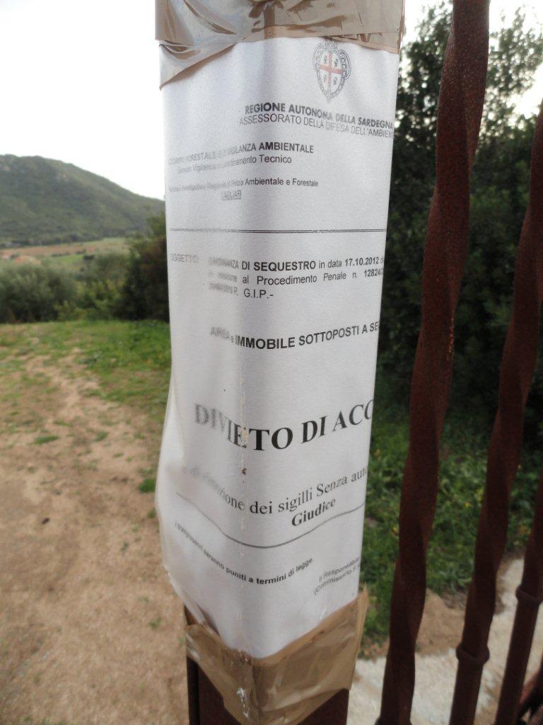 Castiadas, cartello sequestro preventivo