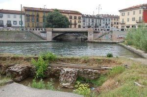 Milano, Darsena dei Navigli, testimonianze dei bastioni spagnoli  (sec. XVI)