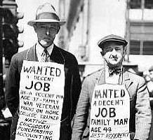 crisi del 1929, disoccupati