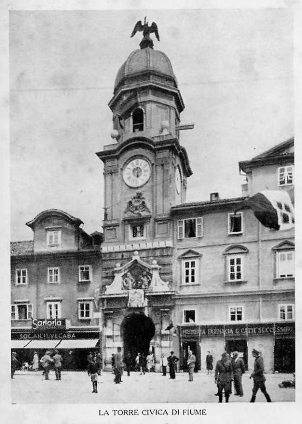 Fiume, Torre civica (foto anni '20 del '900)