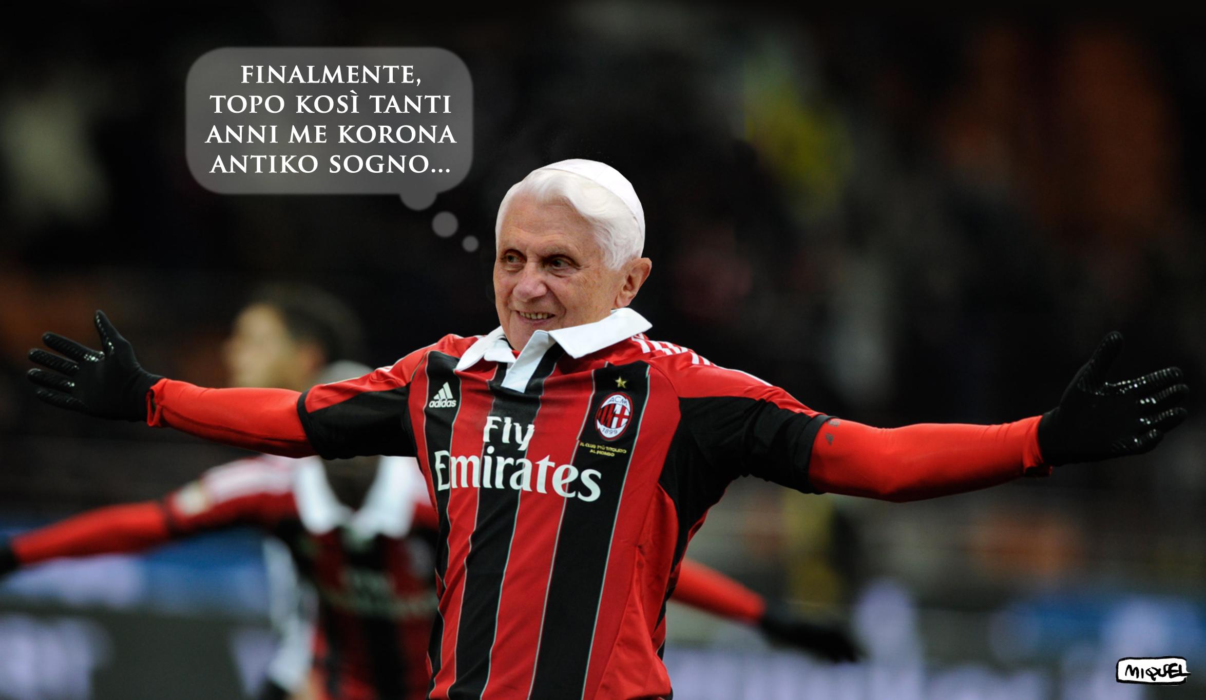 il Papa non va al Milan
