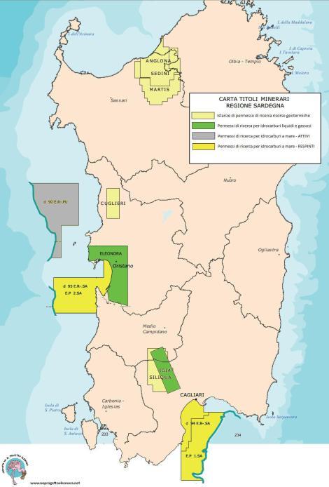 Sardegna, progetti ricerche minerarie