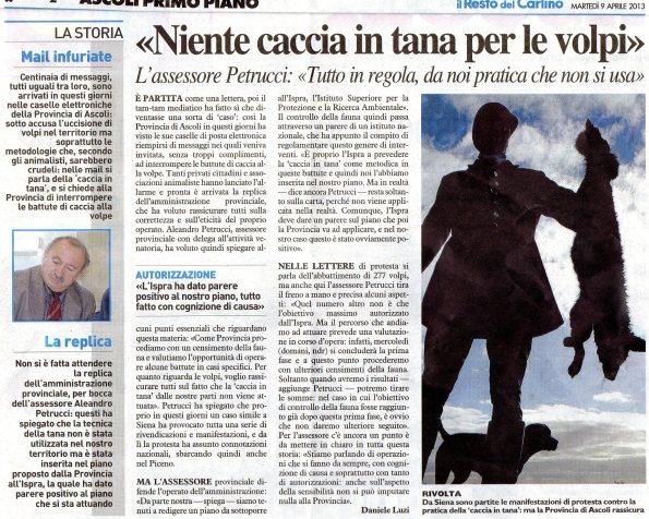 da Il Resto del Carlino, 9 aprile 2013