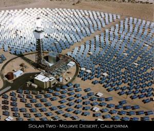 California, deserto del Mojave, centrale solare termodinamica