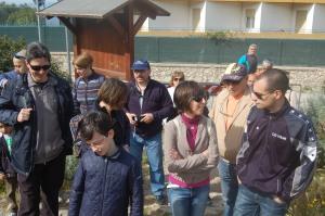 Cagliari, un gruppo di escursionisti alla partenza del sentiero naturalistico e archeologico della Sella del Diavolo (aprile 2013)