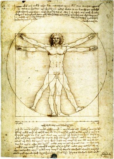 Homo Vitruvianus (disegno di Leonardo da Vinci, 1490 circa)