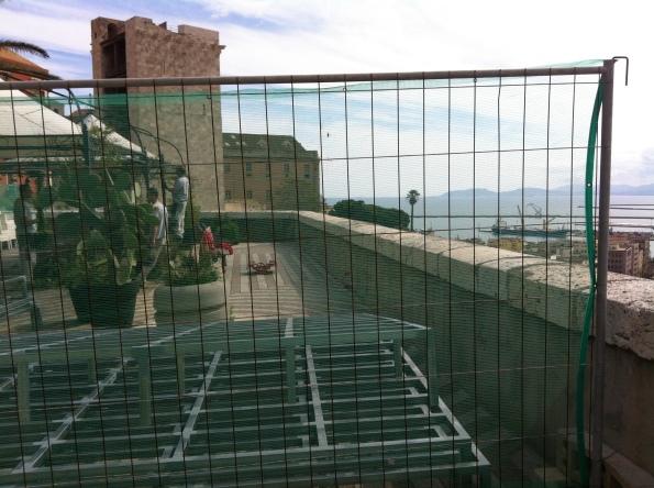 Cagliari Bastione di Santa Croce, cantiere