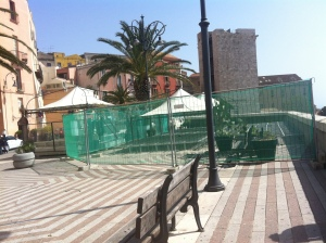 Cagliari, Bastione di S. Croce, cantiere