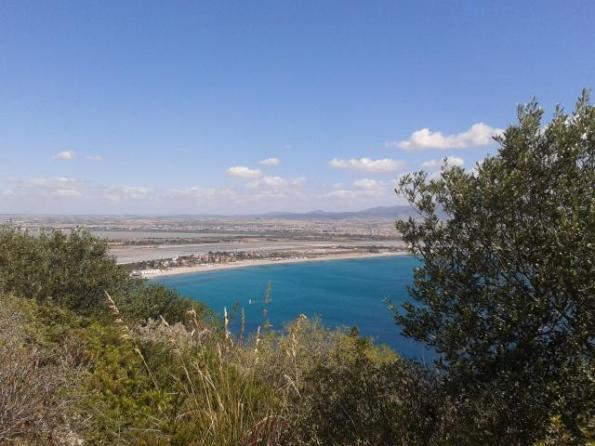 Cagliari, Sella del Diavolo, uno scorcio di visuale verso il Poetto
