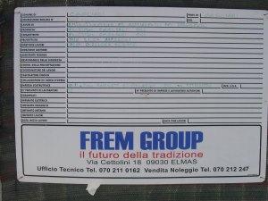 Cagliari, Poetto, cartello inizio lavori