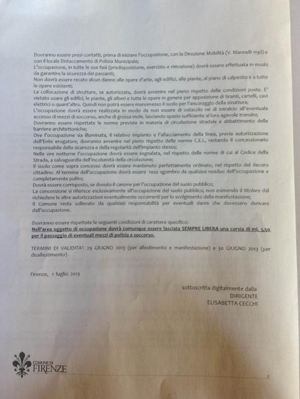 autorizzazione occupazione suolo pubblico Ponte Vecchio (pag. 2)