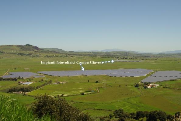 Cossoine, Campu Giavesu, impianti fotovoltaici
